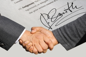 A handshake deal to fund a franchise